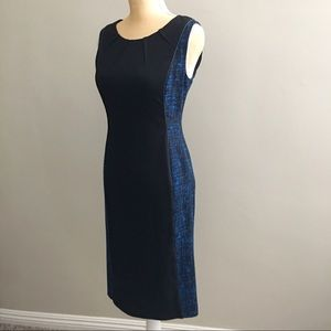 Ann Klein Sleeveless Sheath Dress, Size 4